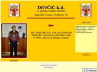 Slika naslovnice sjedišta: Devčić k. d. za zaštitu osoba i imovine. (http://www.devcic.ueuo.com)