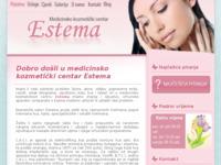 Frontpage screenshot for site: Medicinsko kozmetički centar Estema (http://www.estema.hr)