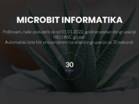 Frontpage screenshot for site: Microbit trgovina računala (http://www.microbit.hr/)