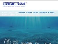 Frontpage screenshot for site: Neptun-sub d.o.o. za ronilačke radove i hidroinženjering (http://www.neptun-sub.hr/)