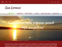 Frontpage screenshot for site: Apartmani i sobe San Lorenzo u Loparu (http://www.pension-sanlorenzo.com)