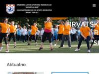 Slika naslovnice sjedišta: Hrvatski savez sportske rekreacije (http://www.hssr.hr/)