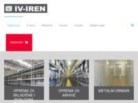 Frontpage screenshot for site: Iv.Iren d.o.o., Zagreb (http://www.iv-iren.hr/)