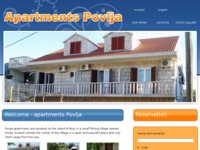 Frontpage screenshot for site: Apartmani Povlja, otok Brač (http://www.apartments-povlja.com)