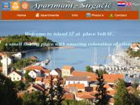 Frontpage screenshot for site: Apartmani Veli Iž - otok Iž (http://www.apartmani-strgacic.hr)