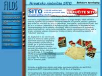 Frontpage screenshot for site: Sito - hrvatski spellchecker za MsWord (http://www.filos.com/sito.html)