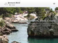 Frontpage screenshot for site: Apartmani Maček, Brela (http://www.brela.biz)