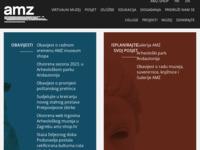 Frontpage screenshot for site: Arheološki muzej u Zagrebu (http://www.amz.hr/)