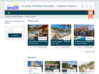 Frontpage screenshot for site: Dalmatia.net (http://www.dalmatia.net)