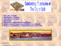 Frontpage screenshot for site: Prve web stranice grada Splita (1995) (http://w3.mrki.info/split/)