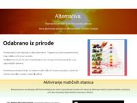 Slika naslovnice sjedišta: Alternativa (http://www.alternativa.putokaz.biz/)