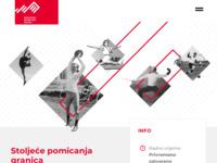 Frontpage screenshot for site: Hrvatski športski muzej (http://www.sportski-muzej.hr/)