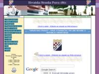 Frontpage screenshot for site: Hrvatska stranka prava 1861 (http://www.hsp1861.hr)
