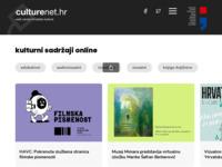 Frontpage screenshot for site: culturenet.hr > web centar hrvatske kulture (http://www.culturenet.hr/)