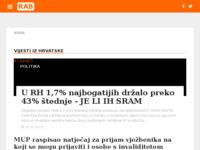Frontpage screenshot for site: Otok Rab (http://otok-rab.info/)