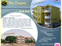 Slika naslovnice sjedišta: Vila Danijela, Sukošan (http://www.vila-danijela.hr/)