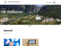 Slika naslovnice sjedišta: Elektroprojekt d.d. (http://www.elektroprojekt.hr/)