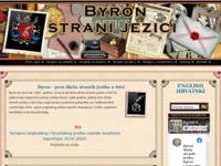 Frontpage screenshot for site: Byron škola jezika Pula (http://www.byronlang.net/)