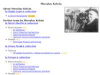 Slika naslovnice sjedišta: Miroslav Krleža (http://www.borut.com/library/a_krlezm.htm)