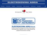 Slika naslovnice sjedišta: Elektrokovina Adria (http://www.elektrokovina-adria.hr/)