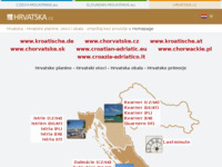 Frontpage screenshot for site: Hrvatske planine, otoci i obala (http://www.hrvatska.cz/)