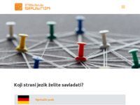 Frontpage screenshot for site: Sputnik jezici (http://www.sputnik-jezici.hr)