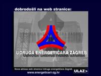 Frontpage screenshot for site: Udruga energetičara Zagreb (http://www.energeticari-zg.t-com.hr/)