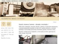 Slika naslovnice sjedišta: Klesarska radnja Braća Cvitković (http://www.cvitkovic.com)