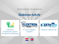 Frontpage screenshot for site: Elektron d.o.o. Krk (http://www.elektron-krk.hr)