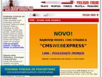 Slika naslovnice sjedišta: CMS Izrada web stranica (http://www.poslovniforum.hr/cms/)