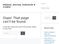 Frontpage screenshot for site: Edita Pecotić Marelić - Korčula (http://www.korcula-croatia.com/edita/)