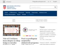 Frontpage screenshot for site: Ministarstvo kulture (http://www.min-kulture.hr/)