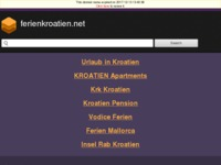 Frontpage screenshot for site: Apartmani i kuće za odmor - Dalmacija i otoci (http://www.ferienkroatien.net)