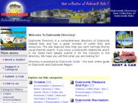 Frontpage screenshot for site: Dubrovnik direktorij (http://directory.dubrovnik-guide.net/)