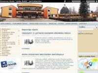 Slika naslovnice sjedišta: Web stranice Osnovne škole Ljubo Babić Jastrebarsko (http://www.os-jastrebarsko.hr/)