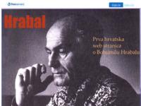 Slika naslovnice sjedišta: Prva hrvatska stranica o Bogumilu Hrabalu (http://www.hrabal.freeservers.com/)