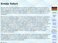 Slika naslovnice sjedišta: Kenija safari (http://www.kenyasafari.altervista.org/kenija/)