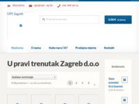 Frontpage screenshot for site: U pravi trenutak d.o.o. (http://www.upt-zg.hr)