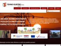 Frontpage screenshot for site: TehnoElektro d.o.o. (http://www.tehnoelektro.hr/)