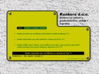 Frontpage screenshot for site: Kunkera d.o.o. (http://www.kunkera.hr/)