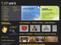 Slika naslovnice sjedišta: C.V.P. info d.o.o. Zagreb (http://www.cvp-info.hr)