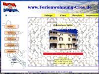 Frontpage screenshot for site: Apartmani Sablić Cres (http://www.ferienwohnung-cres.de)