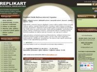 Frontpage screenshot for site: Internet oružarnica Replikart (http://www.replikart.com)