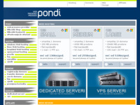 Frontpage screenshot for site: Pondi d.o.o., Web Presence Provider (http://www.pondi.hr/)