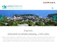 Frontpage screenshot for site: Apartmani Roberta i John Vidulić Veli Lošinj (http://www.losinjroberta.com/)