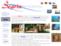 Frontpage screenshot for site: Apartmani Šegota-Duga Uvala (http://free-pu.t-com.hr/segota)