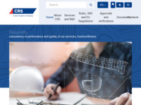 Frontpage screenshot for site: Hrvatski registar brodova (http://www.crs.hr/)