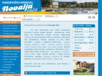 Frontpage screenshot for site: Novalja.info - Turistički portal Grada Novalje (http://www.novalja.info/)