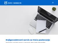 Frontpage screenshot for site: (http://www.info-merkur.hr/)