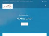 Frontpage screenshot for site: Pansion i restoran Zagi (http://www.zagi.hr/)